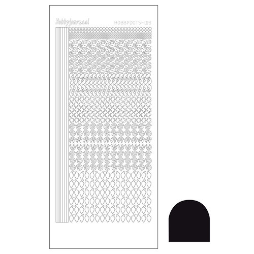 Hobbydots sticker - Adhesive Black