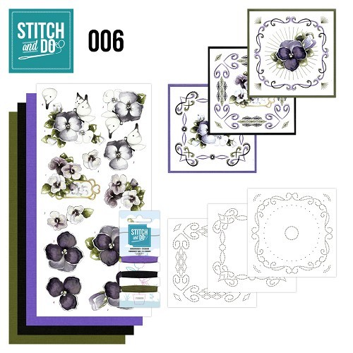 Stitch and Do 6 - Viooltjes