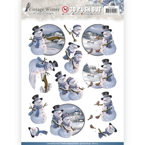 Pushout- Amy Design - Vintage Winter - Snowman