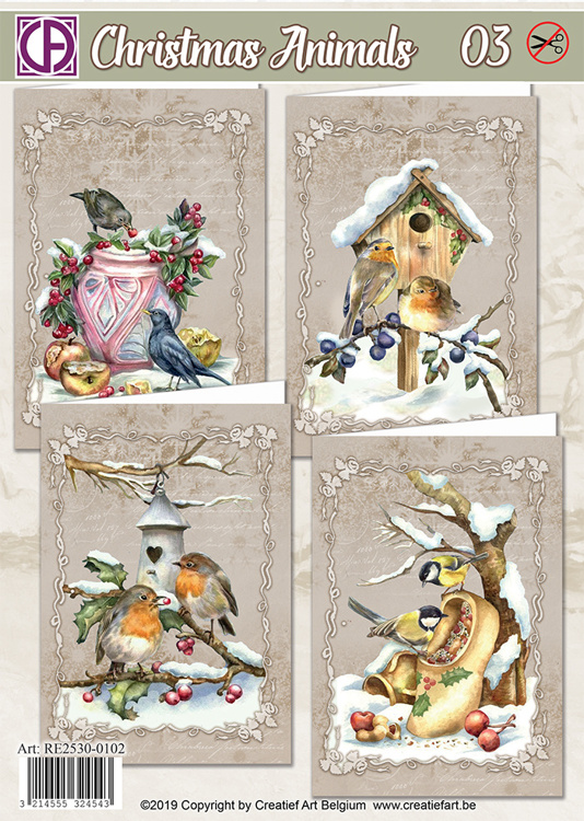 AANBIEDEDING Christmas Animals 03 en Christmas Animals 04