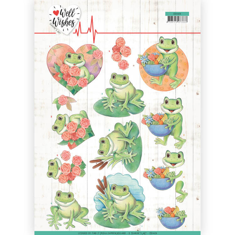 Jeanine's Art - Well Wishes - Frogs
