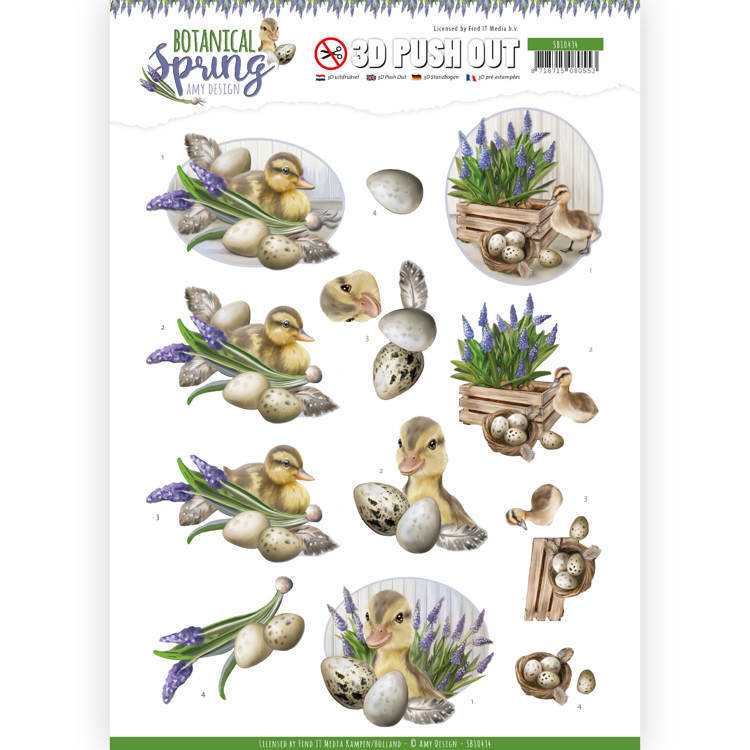 3D Pushout - Amy Design - Botanical Spring - Happy Ducks