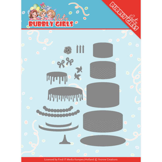 Dies - Yvonne Creations - Bubbly Girls Party - Birthday Cake