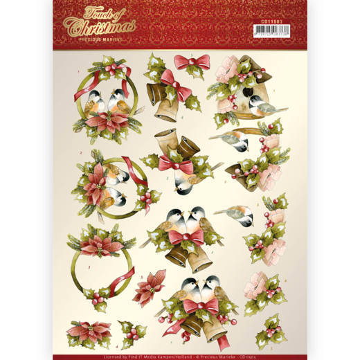 Precious Marieke - Touch of Christmas -  Birds