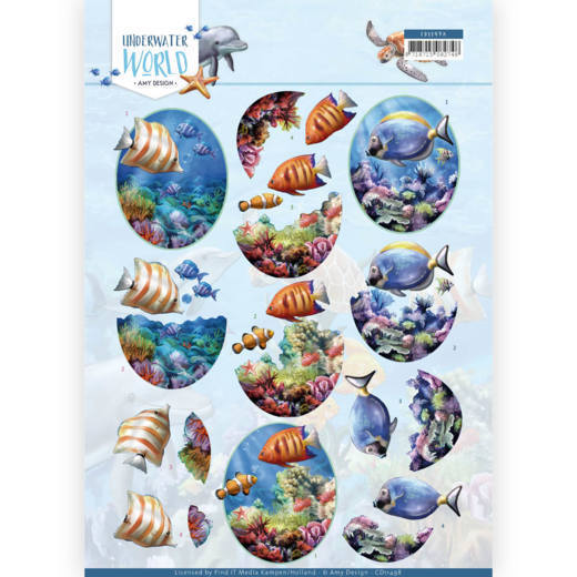 Amy Design - Underwater World - 3D Cutting Sheet - Amy Design - Underwater World -Saltwater Fish