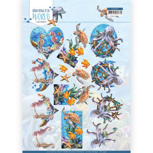 Amy Design - Underwater World - 3D Cutting Sheet - Amy Design - Underwater World -Sea Animals