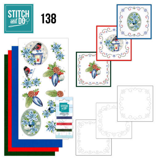 Stitch and Do 138 - Jeanine's Art - Christmas Flowers - Christmas Lantern