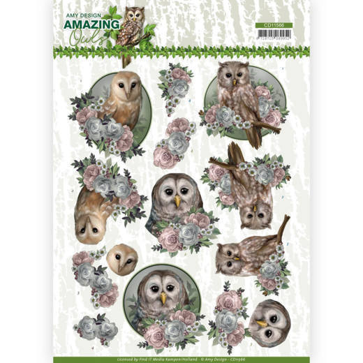 Knipvellen Amy Design Amazing Owls