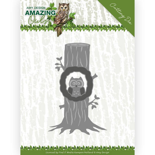 Dies - Amy Design - Amazing Owls - Owl in Tree