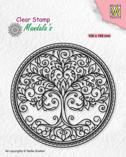 Clear Stamp Mandala Circle with tree