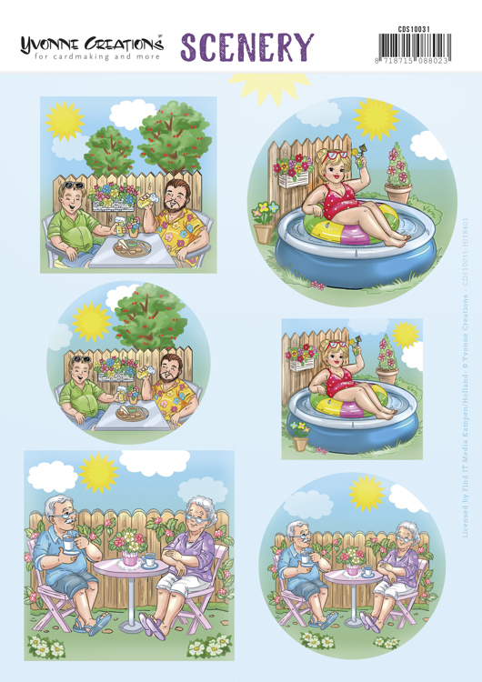 Push Out Scenery - Yvonne Creations - Holidays in the garden