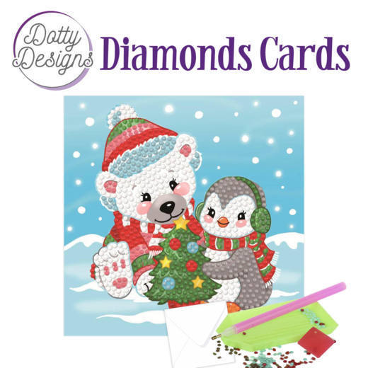 Dotty Designs Diamonds Cards - Christmas Bears