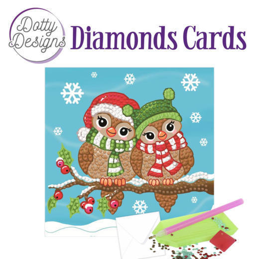 Dotty Designs Diamonds Cards - Christmas Birds