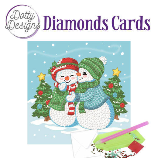 Dotty Designs Diamonds Cards - Santa