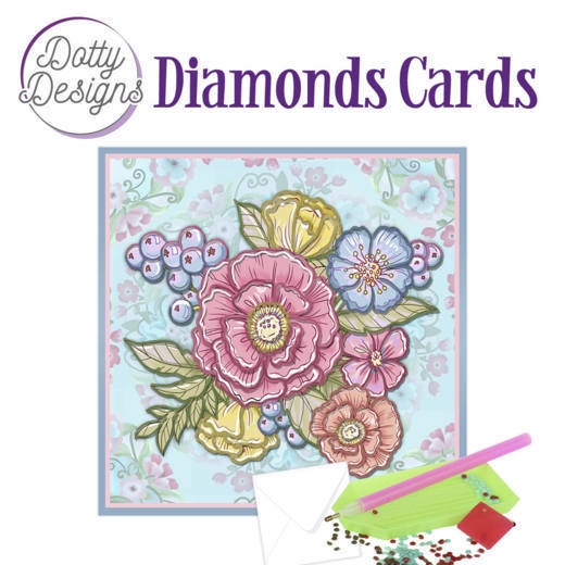 Dotty Designs Diamonds Cards -  Pastel Flowers