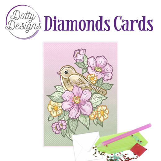 Dotty Designs Diamonds Cards -  Bird and Flowers