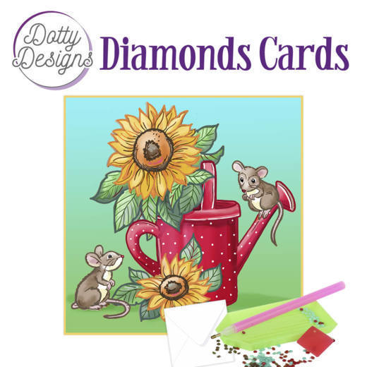 Dotty Designs Diamonds Cards -  Sunflowers
