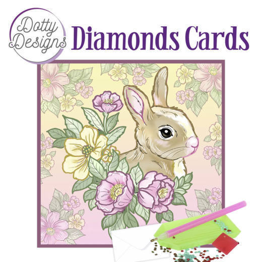 Dotty Designs Diamonds Cards - Rabbit