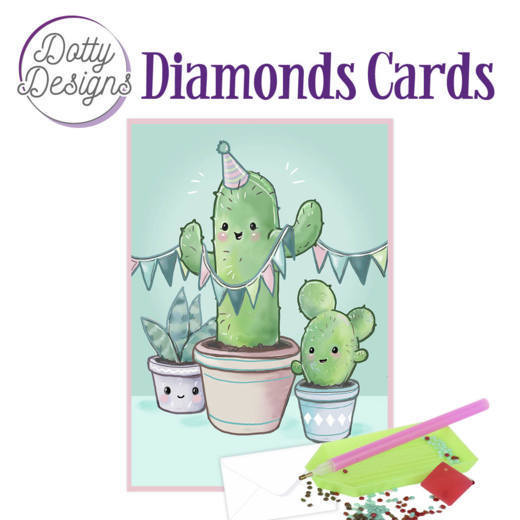 Dotty Designs Diamonds Cards - Cactus