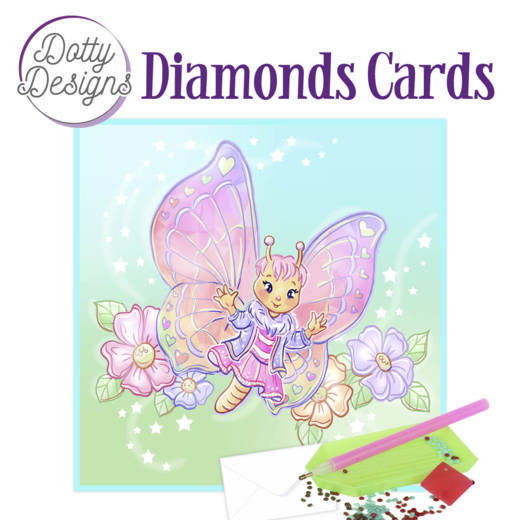 Dotty Designs Diamonds Cards -Butterfly