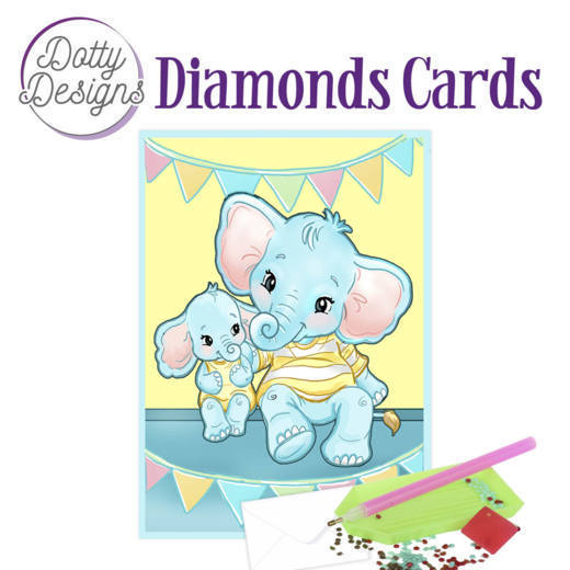 Dotty Designs Diamonds Cards - Elephants