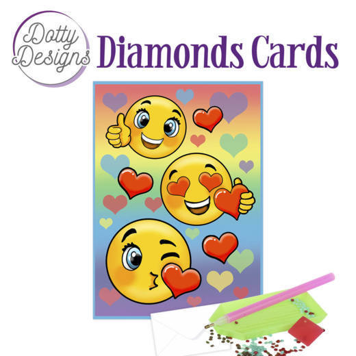 Dotty Designs Diamond Cards -Smileys
