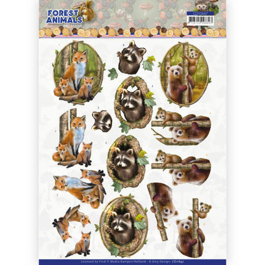 3D cutting sheet - Amy Design Forest Animals - Fox