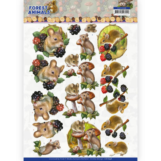 3D cutting sheet - Amy Design Forest Animals -